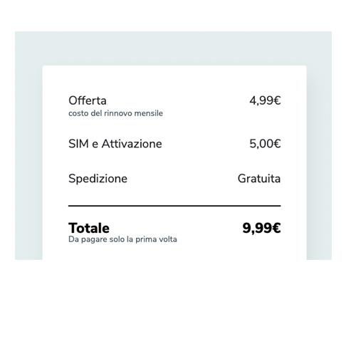 Chiamate ed SMS illimitati + Internet 4G a 4,99 euro al mese!